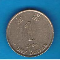 HONG KONG - 1 Dolar 1994  KM69 - Hong Kong