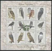 UKRAINE 2003 OWLS MS  MNH - Oekraïne