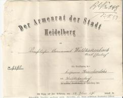 == DR   Brief 1885 Stadt Heidelberg  Text Inhalt  Heimatbeleg - Briefe U. Dokumente