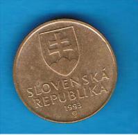 ESLOVAQUIA - 1 Koruna 1993  Km12 - Eslovaquia