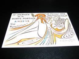 Oziouls 1carte Postale Salon Amiens1989 - Oziouls