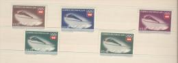 Paraguay, 5 Stamps, Ski, Olympics - Winter 1976: Innsbruck