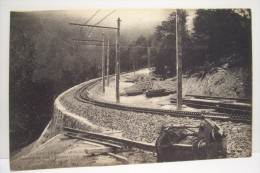 LUCHON -chemin De Fer A Crémaillére (grand Tournant Du Mail De La Soulan - Luchon