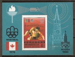 JUEGOS OLÍMPICOS - MONGOLIA 1976 - Yvert #H46 - MNH ** - Verano 1976: Montréal