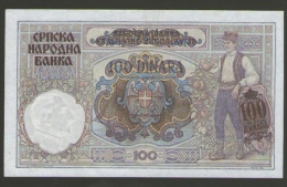 SERBIA  100 DINARA 1941 - Serbie