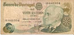 BILLETE DE PORTUGAL DE 20 ESCUDOS DEL AÑO 1978 SERIE SR  (BANKNOTE) - Portugal