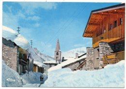 CP, 73, VAL D´ISERE Alt. 1850m, Echappée Sur L´Eglise, Voyagé En 1974 - Val D'Isere
