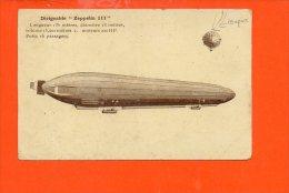 "DIRIGEABLE ""Zeppelin III ""  Longueur 135 Mètres, Diamètre 13m, (état) - Dirigeables"