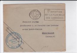 1940 - ENVELOPPE FM De L´ETAT MAJOR De L´ARRONDISSEMENT De TOULON (VAR) - Marcophilie (Lettres)