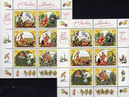 Dichter Puschkin Märchen 1984 DDR 2914/9, 6-KB A Plus E ** 39€ Märchen-Gestalt Zar+7 Recken M/s Bloc Sheetlet Bf Germany - [6] Democratic Republic