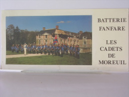 CARTON GRAND FORMAT 10 X 21 Cm - BATTEIRE FANFARE - LES CADETS DE MOREUIL (80) - Advertising