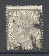 CEYLON , 1872 96c (wmk Crown CC) Fine Used - Ceylon (...-1947)