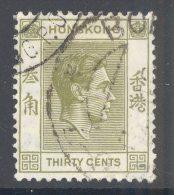 HONG KONG, 1938 30c (P14) Very Fine Used - Hong Kong (...-1997)