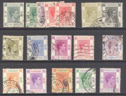 HONG KONG, 1938 Selection To $10 U/VFU, Cat £83 - Hong Kong (...-1997)