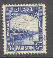 PAKISTAN, 1948 3½as Blue VFU, Cat £5.50