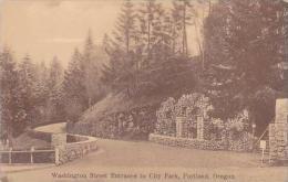 Oregon Portland Washington Street Entrance To City Park