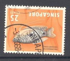 SINGAPORE, 1966 25C (Wmk Sideways, SG 86) Very Fine Used - Singapore (1959-...)