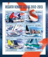 m13130a Mozambique 2013 Ship Regatta - Vendee Globe s/s