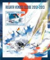 m13130b Mozambique 2013 Ship Regatta - Vendee Globe s/s