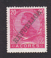 Azores, Scott #130, Mint Hinged, King Manuel II Overprinted, Issued 1910 - Azoren