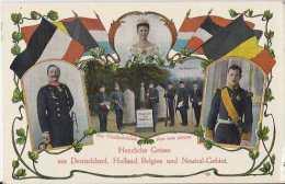 GEMMENICH  PLOMBIERES MORESNET KELMIS + VIERLÄNDERBLICK Voyagé 1914 Sans Timbre  (230) - Plombières