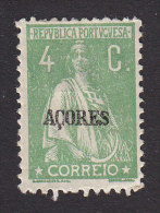 Azores, Scott #167, Mint Hinged, Ceres Overprinted, Issued 1919 - Azoren