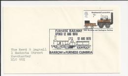 Lettre De Grande Bretagne - Train - Locomotive De Stephenson - Furness Railway - Enveloppe - Eisenbahnen
