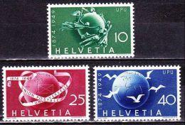 Switzerland / Schweiz / Suisse : 1949 75 Jahre Weltpostverein UPU Satz Mit Falz Michel 522 / 524 - Neufs