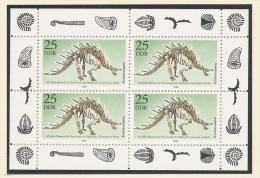 DDR 1990 Fauna Mi# 3325 Klb ** MNH Dinosaurier Dinos Prehistoric Animals Museum Kentrurosaurus - DDR