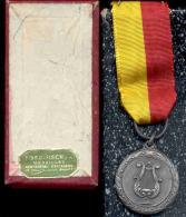 BERTEM-LEUVEN-MEDAILLE-1968-KONINKLIJKE-FANFARE-DE IV HEEMSKINDEREN-100 JARIG BESTAAN-MET ORIGINEEL DOOSJE-ZIE 3 SCANS! - Belgique