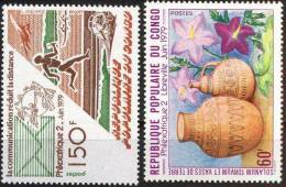 CONGO REPUBLIC - PHILEXAFRIQUE - TERRACOTTA VASE - ORCHIDS  - MNH ** - 1979 - Philatelic Exhibitions