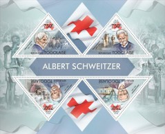 Tg13412a Togo 2013 Nobel Prize Albert Schweitzer Red Cross S/s - Albert Schweitzer