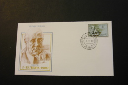 Greece Europa 90 George Seferis Day Of Issue Cancel 1980 04s - FDC