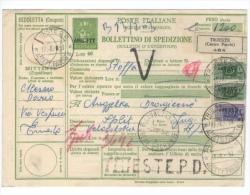 TRST TRIESTE - ZONA A   AMG FTT  BOLLETTINO DI SPEDIZIONE 1953 - Storia Postale