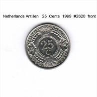 NETHERLAND ANTILLES    25  CENTS  1999   (KM # 35) - Netherland Antilles