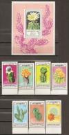 CACTUS - MONGOLIA 1989 - Yvert #1666/72+H135 - MNH ** - Cactus