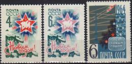 USSR 1964 3 V MNH New Year Nouvel An Neues Jahr - Nouvel An