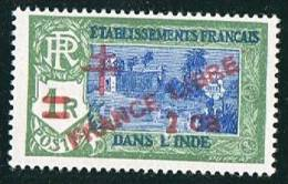 INDE ßurcharge «Croix De Lorraine Et FRANCE LIBRE» 2ca Sur 1R   Maury  249** - India (1892-1954)