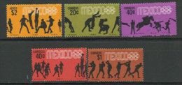 MEXIQUE. Jeux Olympiques Mexico 1968.    5 T-p Neufs ** - Zomer 1968: Mexico-City