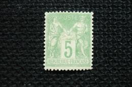 France Sage 5c Vert Type 3   N°102 Neuf  * Gomme D´origine  Avec Charniere - 1898-1900 Sage (Type III)