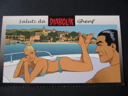 CARTOLINA NUOVA SALUTI DA GRENF - DIABOLIK - Fumetti