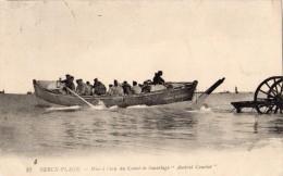 BERCK-PLAGE MISE A L EAU DU CANOT DE SAUVETAGE AMIRAL COURBET - Berck