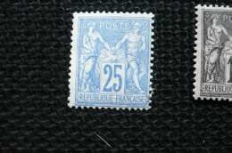 France Sage 25c Outremer N° 78 Neuf * Gomme D'origine - 1898-1900 Sage (Type III)