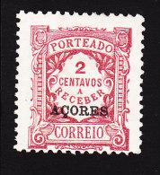Azores, Scott #J17, Mint No Gum, Postage Due, Issued 1910 - Azores