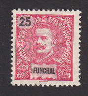 Funchal, Scott #20, Mint Hinged, King Carlos Overprinted, Issued 1899 - Funchal