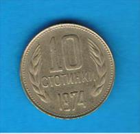BULGARIA - 10 Stotinki  1974    KM87 - Bulgaria