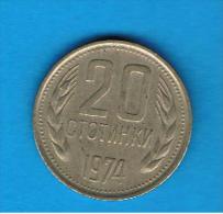 BULGARIA - 20 Stotinki  1974    KM88 - Bulgaria