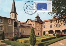 Cpm 1994  MONLEON MAGNOAC, Notre Dame De Garaison Avec Le Timbre Du Parlement Européen (20.56) - France