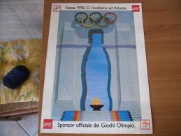 MANIFESTO COCA COLA BARCELLONA 1992 SPONSOR UFFICIALE GIOCHI OLIMPICI - Advertising Posters