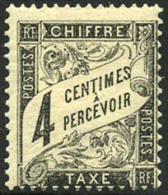France J14 Mint No Gum 4c Black Postage Due From 1882 - 1859-1955 Mint/hinged